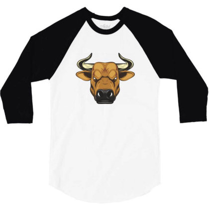 The Bull 3/4 Sleeve Shirt Designed By Estore