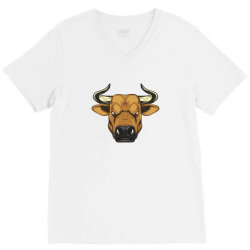 The Bull V-Neck Tee | Artistshot