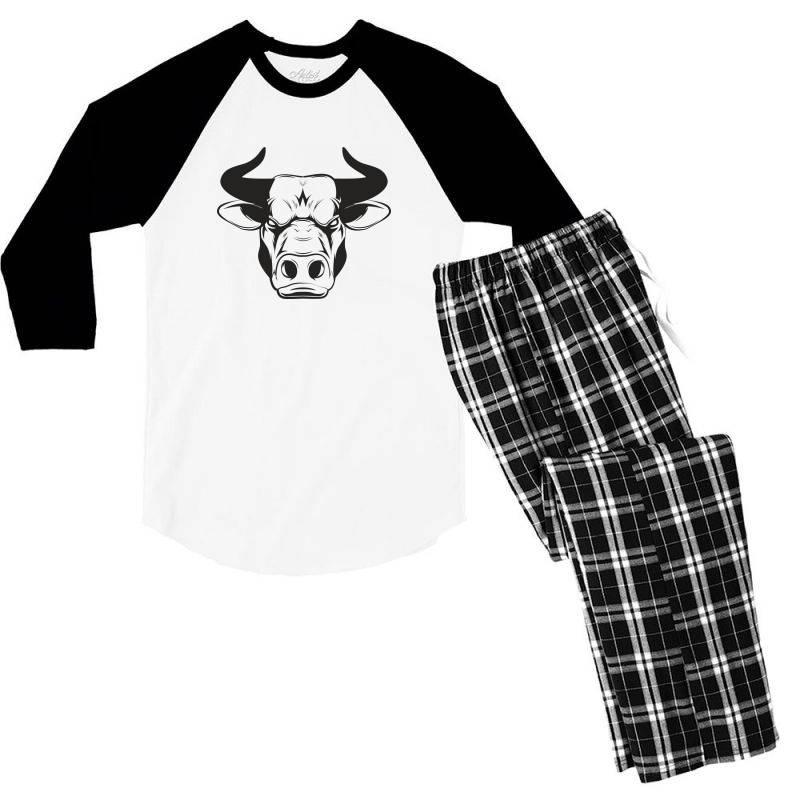 The Bull Men's 3/4 Sleeve Pajama Set   Artistshot