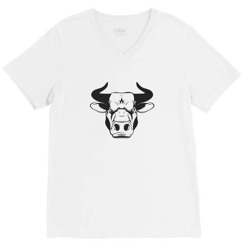 The Bull V-neck Tee   Artistshot