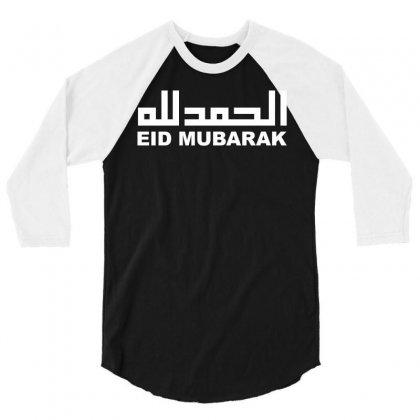 Eid Mubarak 3/4 Sleeve Shirt Designed By Moon99