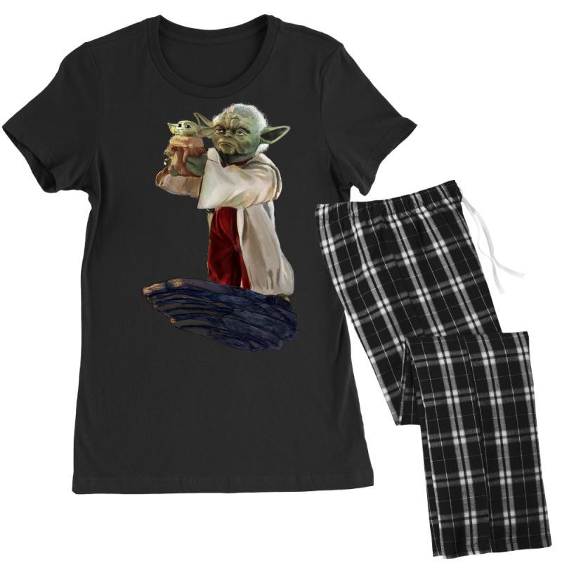 The Mandalorian Mens Pyjamas Set Mandalorian Pyjamas with Baby Yoda Adult Size S to 3XL