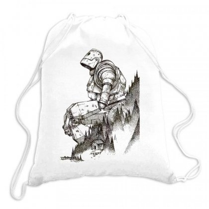Iron Giant Graphic Drawstring Bags Designed By Moon99
