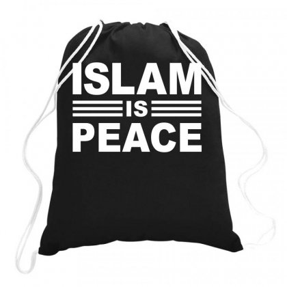 Islam Is Peace Drawstring Bags Designed By Moon99