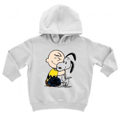 Charlie Hug Snoopy Toddler Hoodie Designed By Rakuzan