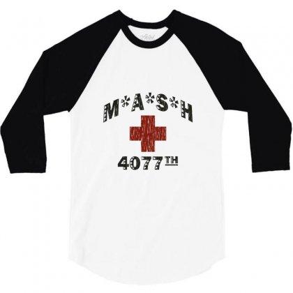 Mash 4077th Tv Division Vintage Style 3/4 Sleeve Shirt Designed By Mdk Art