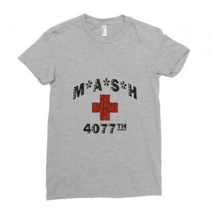Mash 4077th Tv Division Vintage Style Ladies Fitted T-shirt Designed By Mdk Art