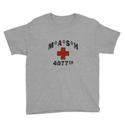 Mash 4077th Tv Division Vintage Style Youth Tee Designed By Mdk Art