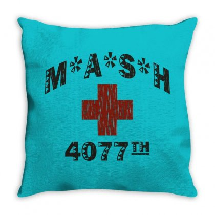 Mash 4077th Tv Division Vintage Style Throw Pillow Designed By Mdk Art