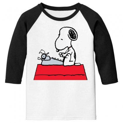 Snoopy And Me The Uplifting Comic Genius Of 'peanuts Youth 3/4 Sleeve Designed By Rakuzan