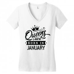 Queens Are Born In January Women's V-Neck T-Shirt | Artistshot