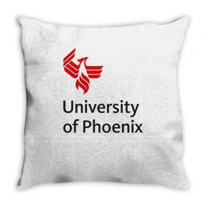 University Of Phoenix Mug Throw Pillow Designed By Cahayadianirawan