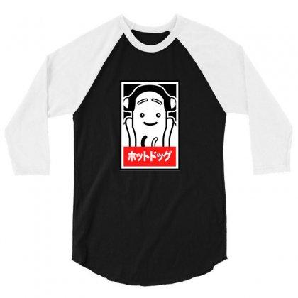 Hot Dog Meme 3/4 Sleeve Shirt Designed By Arsa