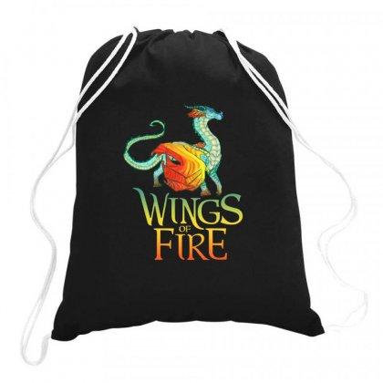 Queen Glory Wings Of Fire Drawstring Bags Designed By Rakuzan