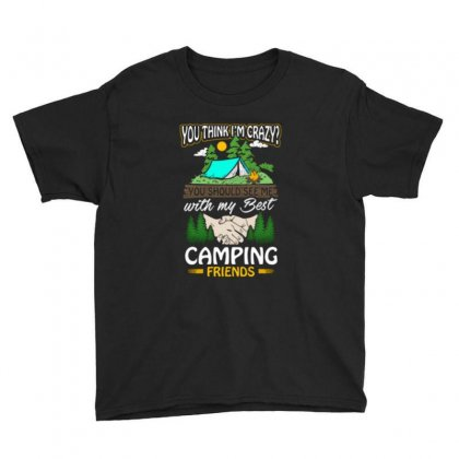 Crazy Best Camping Friends Youth Tee Designed By Romeo And Juliet
