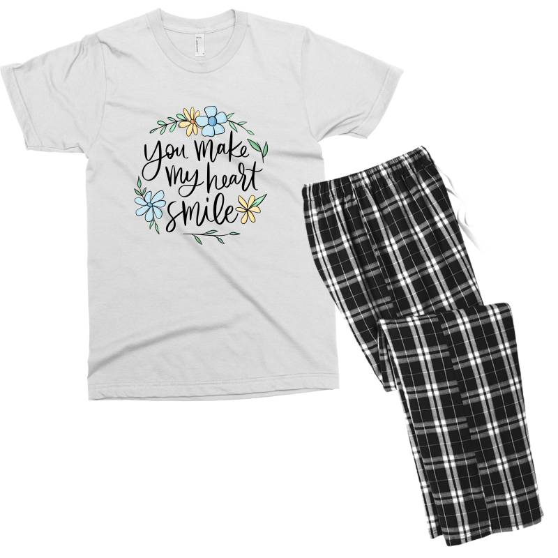 You Make My Heart Smile Men's T-shirt Pajama Set   Artistshot