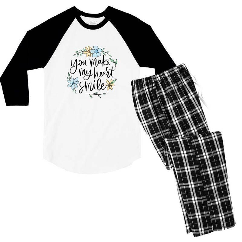 You Make My Heart Smile Men's 3/4 Sleeve Pajama Set | Artistshot