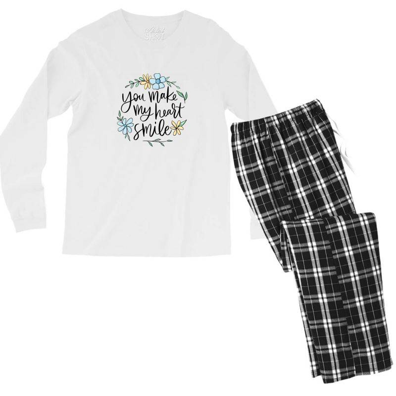 You Make My Heart Smile Men's Long Sleeve Pajama Set | Artistshot