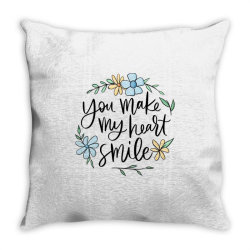 You make my heart smile Throw Pillow | Artistshot