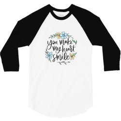 You make my heart smile 3/4 Sleeve Shirt | Artistshot