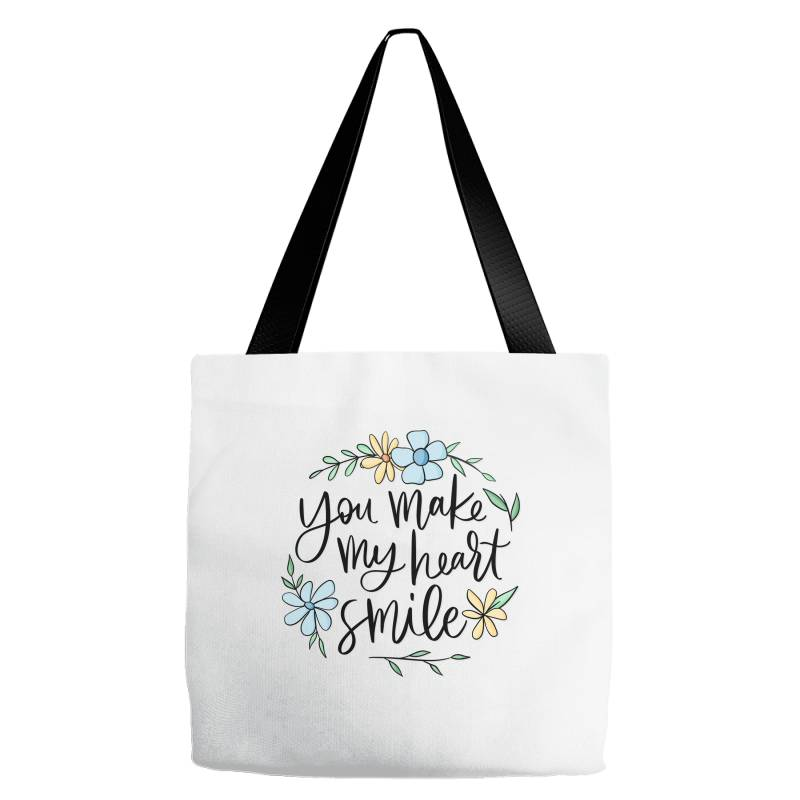 You Make My Heart Smile Tote Bags | Artistshot