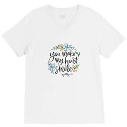 You make my heart smile V-Neck Tee | Artistshot