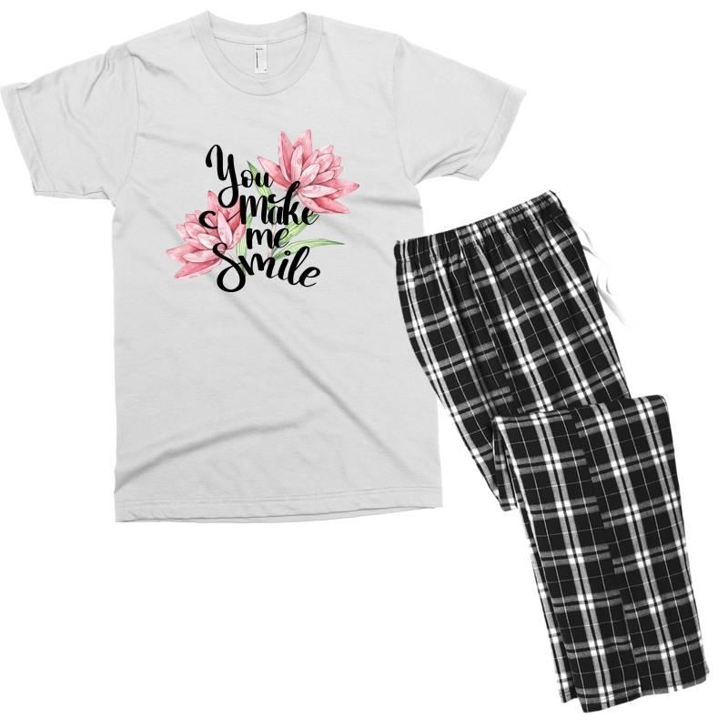 You Make Me Smile Men's T-shirt Pajama Set | Artistshot