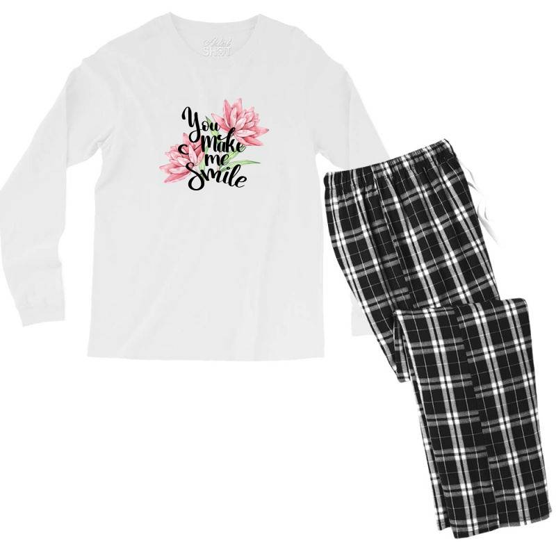 You Make Me Smile Men's Long Sleeve Pajama Set | Artistshot