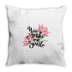 You make me smile Throw Pillow | Artistshot