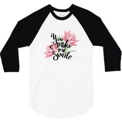 You make me smile 3/4 Sleeve Shirt   Artistshot