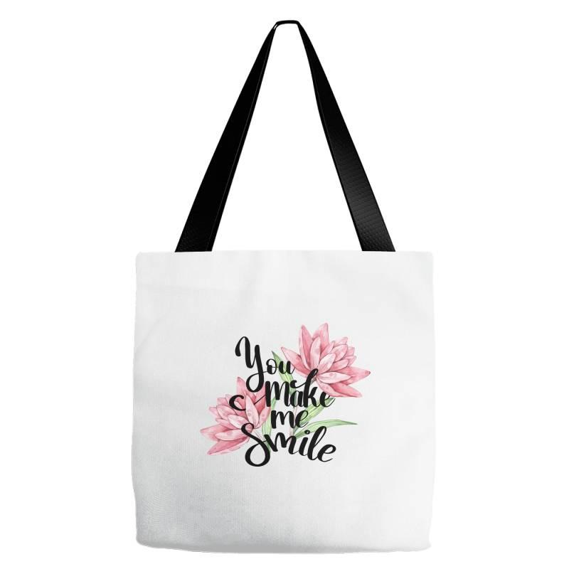 You Make Me Smile Tote Bags | Artistshot