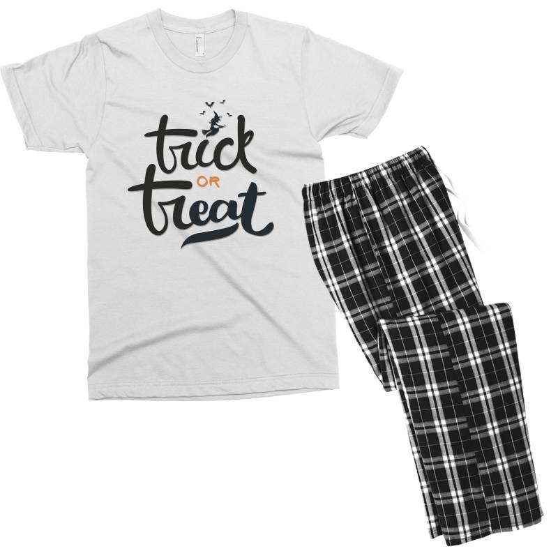 Trick Or Treat Men's T-shirt Pajama Set   Artistshot