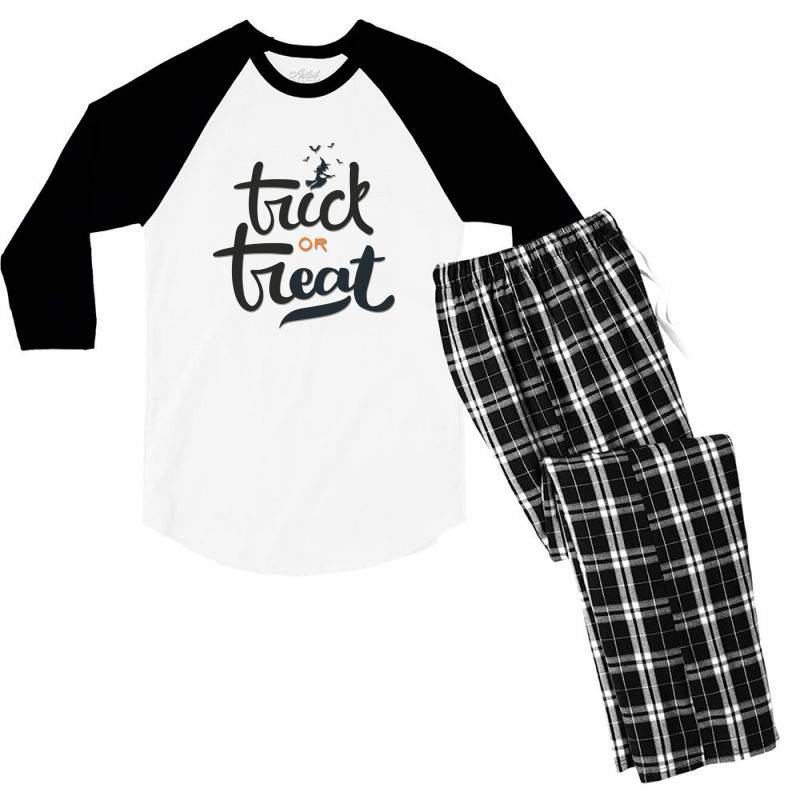 Trick Or Treat Men's 3/4 Sleeve Pajama Set | Artistshot