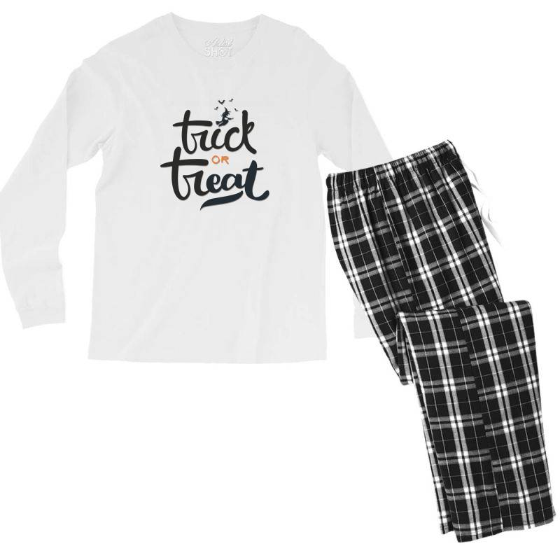 Trick Or Treat Men's Long Sleeve Pajama Set | Artistshot