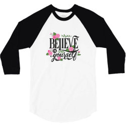 Believe in youself 3/4 Sleeve Shirt | Artistshot