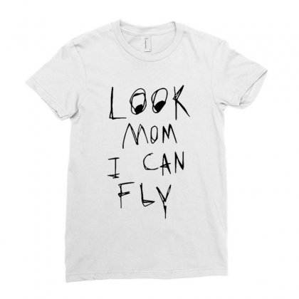 Look Mom I Can Fly Ladies Fitted T-shirt Designed By Rakuzan