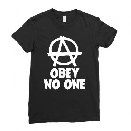 Obey No One Ladies Fitted T-shirt Designed By Warief77
