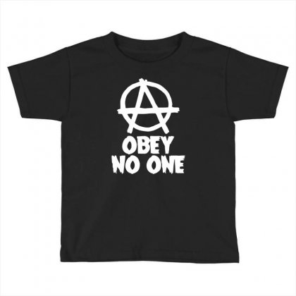 Obey No One Toddler T-shirt Designed By Warief77