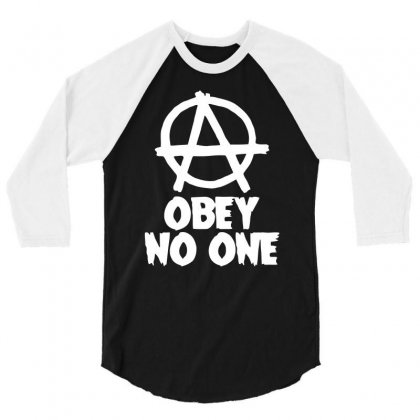 Obey No One 3/4 Sleeve Shirt Designed By Warief77