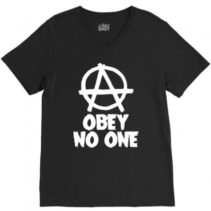Obey No One V-neck Tee Designed By Warief77