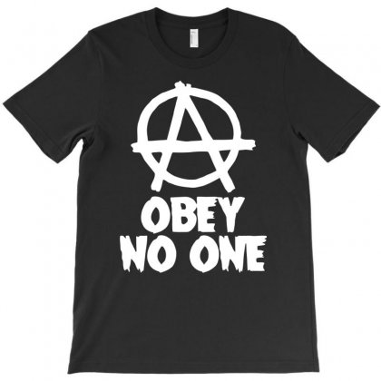 Obey No One T-shirt Designed By Warief77