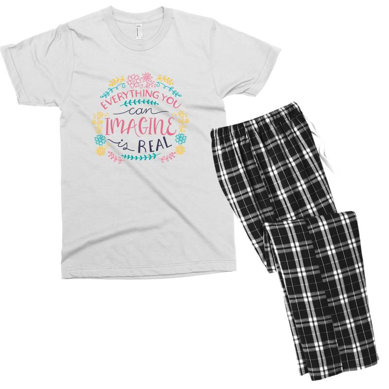 Everything You Can Imagine Is Real Men's T-shirt Pajama Set | Artistshot
