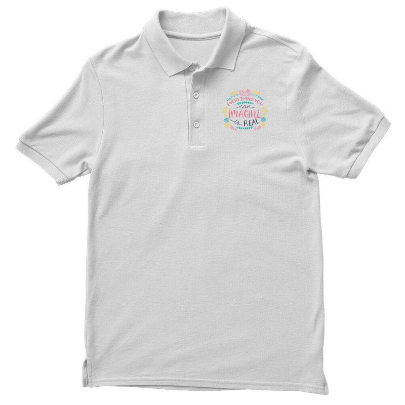Everything You Can Imagine Is Real Men's Polo Shirt | Artistshot