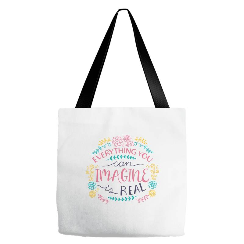 Everything You Can Imagine Is Real Tote Bags | Artistshot