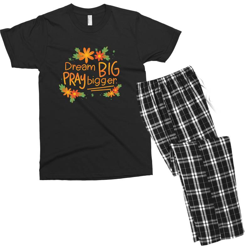 Dream Big Pray Bigger Men's T-shirt Pajama Set   Artistshot