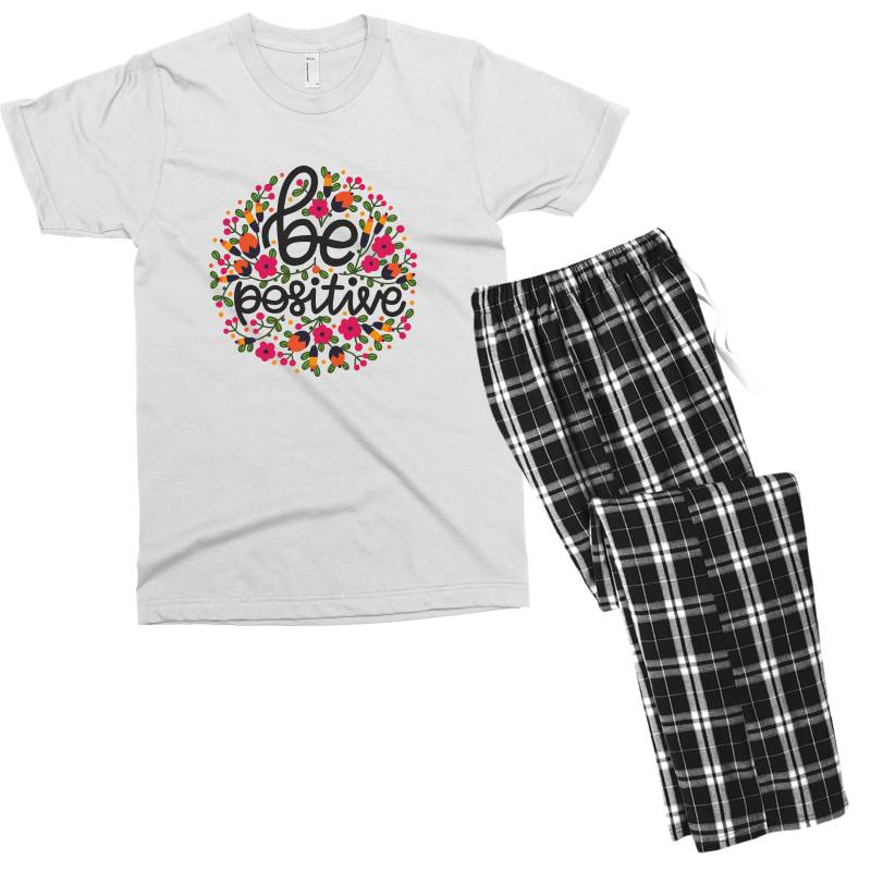Be Positive Men's T-shirt Pajama Set | Artistshot