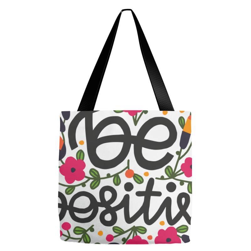 Be Positive Tote Bags   Artistshot
