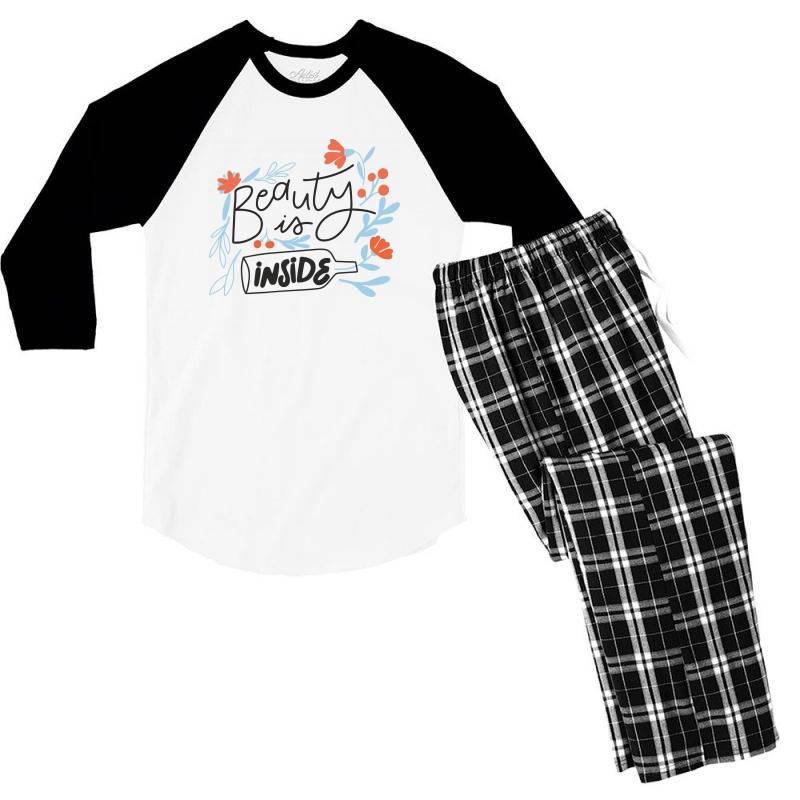 Beauty Is Inside Men's 3/4 Sleeve Pajama Set | Artistshot