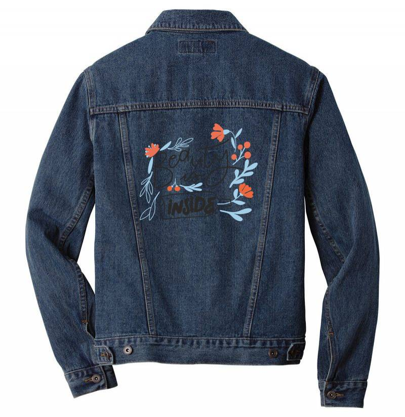 Beauty Is Inside Men Denim Jacket | Artistshot