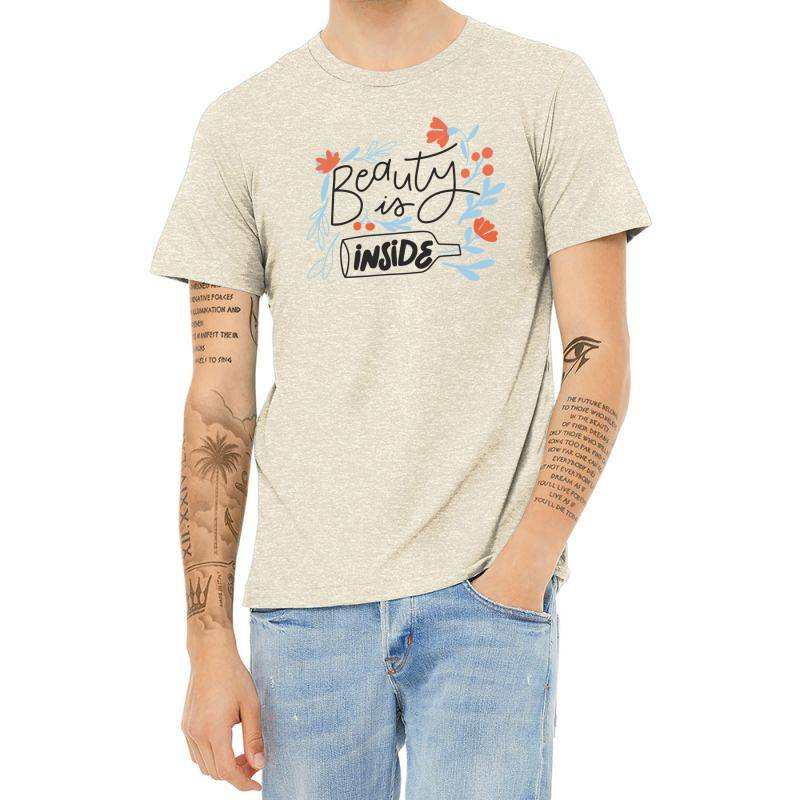Beauty Is Inside Heather T-shirt | Artistshot